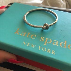 kate spade Jewelry - Kate spade love knot silver hinge bracelet